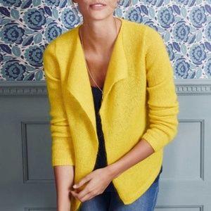 Boden Alba Mohair/Wool Cardigan in Yellow